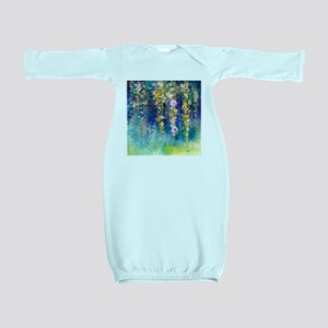 Floral Painting Baby Gown