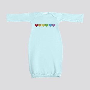 Rainbow Hearts Baby Gown