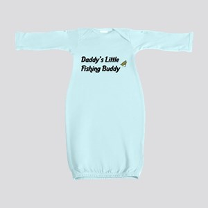 Daddy's Little Fishing Buddy Baby Gown