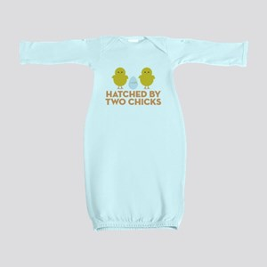 Hatched By Two Chicks Baby Gown