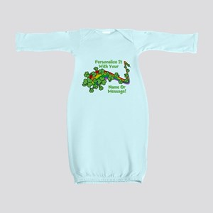 PERSONALIZED Rainbow And Shamrocks Baby Gown