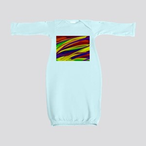 Gay rainbow art Baby Gown