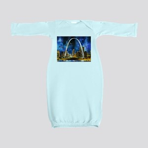 Spacey St. Louis Skyline Baby Gown