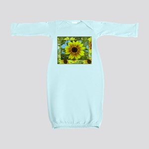Sunflowers Baby Gowns - CafePress