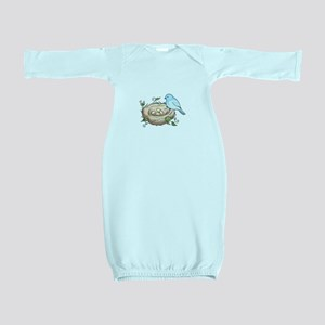 BIRD AND NEST Baby Gown