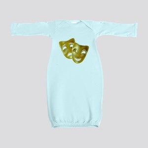 Masks of Comedy and Tragedy Baby Gown