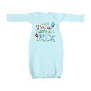 Guitar Player Like Daddy Baby Gown