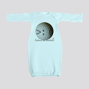 Angry Golf ball Baby Gown
