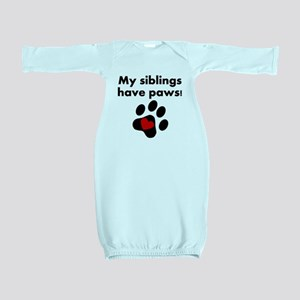 My Siblings Have Paws Baby Gown