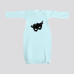 Comedy and Tragedy Theater Masks Baby Gown