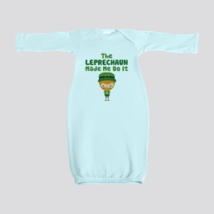 Leprechaun Made Me Baby Gown