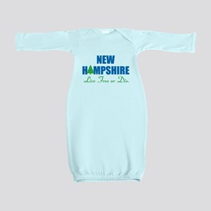 NEW HAMPSHIRE - LIVE FREE OR DIE Baby Gown