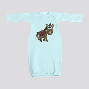 burg ribbon horse Baby Gown