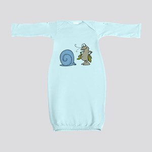 out of his shell hermit crab Baby Gown