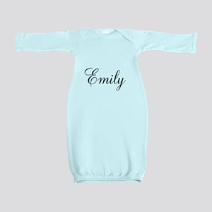 Personalized Black Script Baby Gown