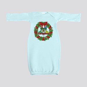 OES Wreath Baby Gown