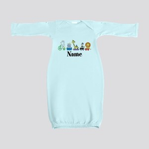 Personalized Noahs Ark Baby Gown