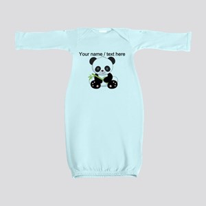 Custom Panda With Bamboo Baby Gown