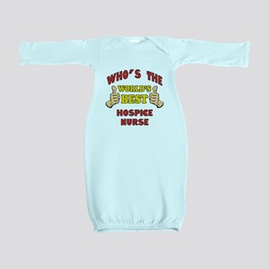 World's Best Hospice Nurse (Thumbs Up) Baby Gown
