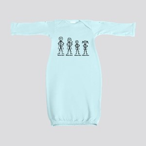 Personalized Super Family Baby Gown
