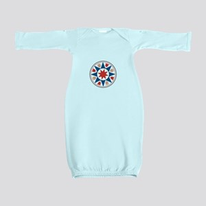Eight Pointed Star Baby Gown