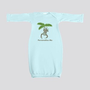 Personalized Monkey Baby Gown