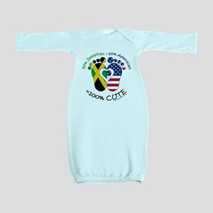 Jamaican American Baby Baby Gown