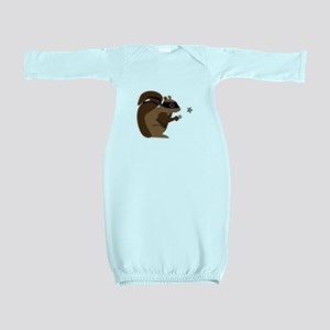 Masked Squirrel Baby Gown
