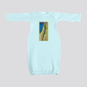 Israel Map Palestine Landscape Border Je Baby Gown