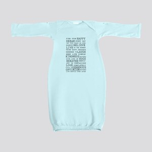 Positive Thoughts Baby Gown