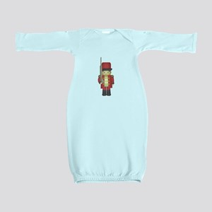 Cute Christmas Toy Soldier Boy in red Baby Gown