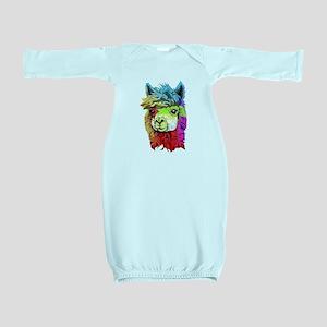 Color Me Alpaca Baby Gown