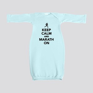 Keep calm and Marathon Baby Gown