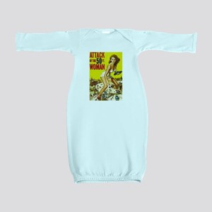 Vintage Attack Woman Comic Baby Gown