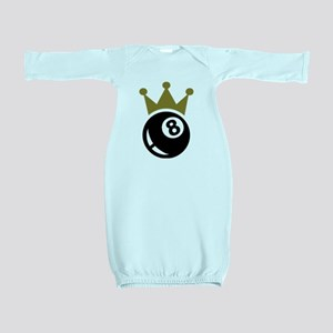Eight ball billiards crown Baby Gown