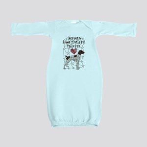 Geometric German Shorthaired Pointer Baby Gown