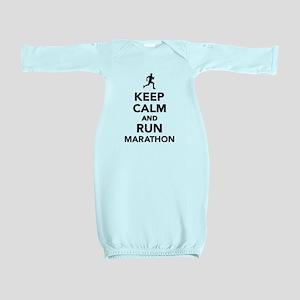 Keep calm and run Marathon Baby Gown