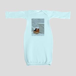 Corgis in Winter Baby Gown