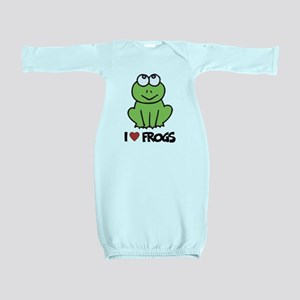 I Love Frogs Baby Gown