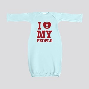 I Heart (Love) Erawan My Lao People Baby Gown