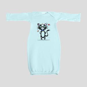 Princess Tuxedo Cat Baby Gown