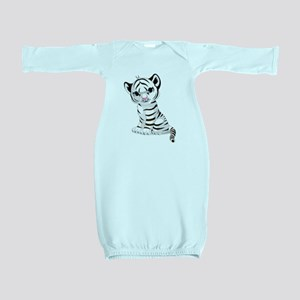 Baby White Tiger Baby Gown