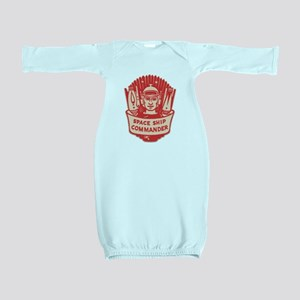 Space Ship Commander Sci Fi Retro Baby Gown