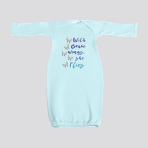 Brave Wings Baby Gown