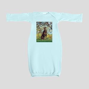 Spring / Doberman Baby Gown