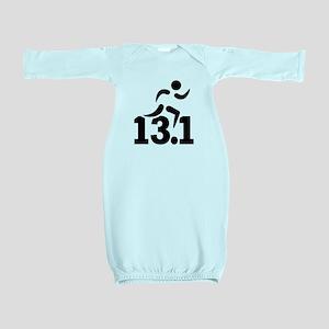 Half marathon runner Baby Gown