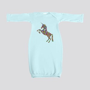 Prismatic Rainbow Unicorn Baby Gown