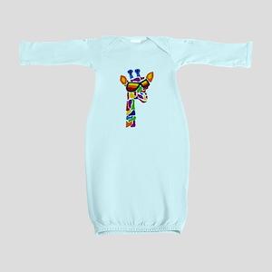 Giraffe in Sunglasses Baby Gown