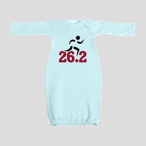 26.2 miles marathon runner Baby Gown