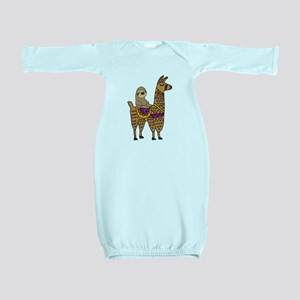 Cute Sloth Riding Llama Baby Gown
